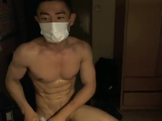 Handsome Chinito Lay Out Near A- Cumshot