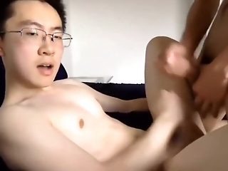 Cute Chinese Twinks Making Out Convenient Home